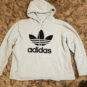 Women's large trefoil Adidas hoodie